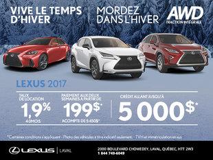 Vive le temps d'hiver Lexus