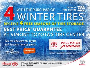 4 FREE Seasons Of Tire Storage - Winter