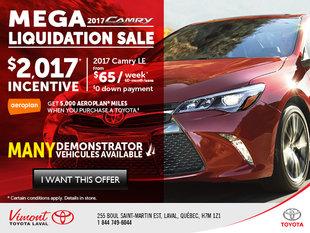 Mega liquidation sale Camry 2017