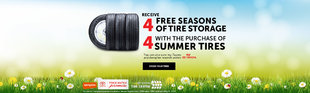 4 Free Seasons of Tire Storage with the Purchase of 4 Summer Tires - web