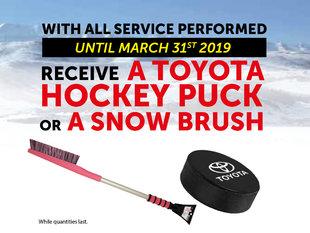 Promotion service (Hockey puck & Snow brush)