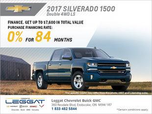 Get the 2017 Silverado 1500 today!