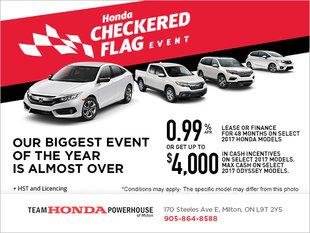 Honda's Checkered Flag Sales Event