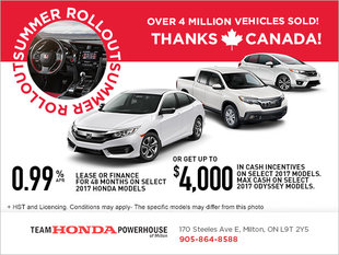 Honda's Summer Rollout Event!