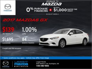 Big Savings on the 2017 Mazda6 GX
