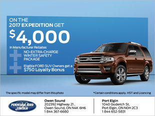 Save on the 2017 Expedition