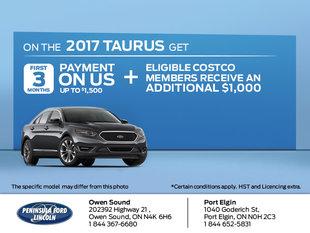Save on the 2017 Taurus
