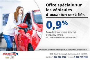 Offre spéciale sur les véhicule d'occasion certifiés