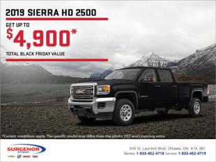 The 2019 GMC Sierra 2500 HD