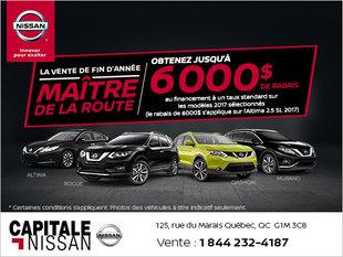 La vente de fin d'année Maître de la route chez Capitale Nissan