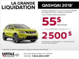 Le Nissan Qashqai 2018! chez Capitale Nissan