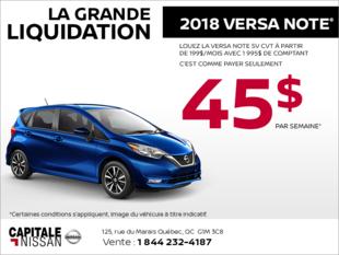 La Nissan Versa Note 2018 chez Capitale Nissan