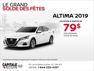 Obtenez le Nissan Altima 2019 dès aujourd'hui! chez Capitale Nissan