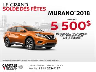 Obtenez le Nissan Murano 2018 dès aujourd'hui! chez Capitale Nissan