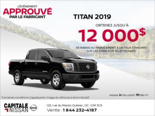 Louez le Nissan Titan 2019 dès aujourd'hui! chez Capitale Nissan