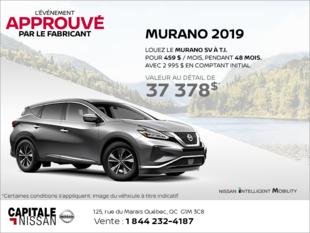 Obtenez le Nissan Murano 2019 dès aujourd'hui! chez Capitale Nissan