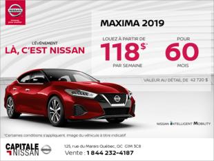 Obtenez la Nissan Maxima 2019 dès aujourd'hui! chez Capitale Nissan