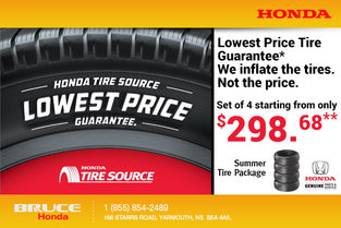 Honda Tire Source Lowest Price Guarantee