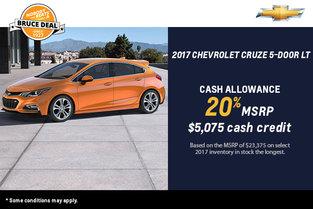 2017 Chevrolet Cruze 5-Door - Drive it Today!