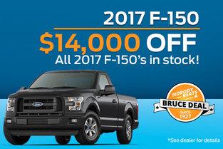 $14,000 OFF 2017 F-150!