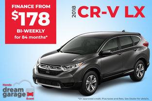Get the 2018 CR-V LX