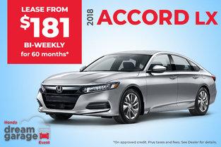 Lease the 2018 Honda Accord LX