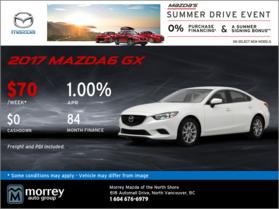 Drive Home a 2017 Mazda6 GX From Morrey Mazda!