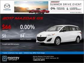 Drive Home a 2017 Mazda5 GS Today