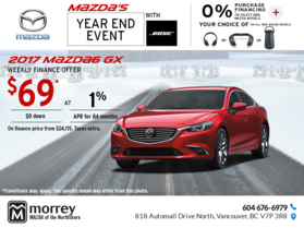 Drive Home a 2017 Mazda6 Today!
