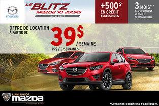 Louez une Mazda à partir de 39$ par semaine!