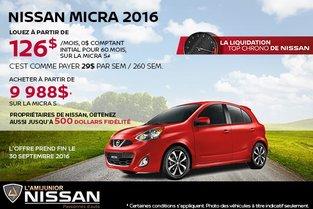 Nissan Micra 2016 en rabais