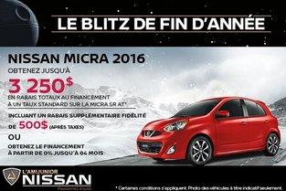 Nissan Micra 2016 en rabais!