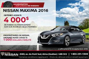 Nissan Maxima 2016 en rabais
