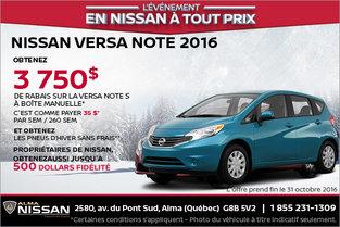 Nissan Versa Note 2016 en location