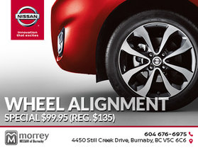 Wheel alignment special for $99.95