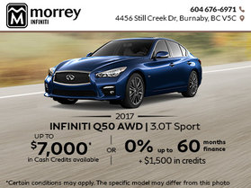 Great Savings on the 2017 Infiniti Q50!
