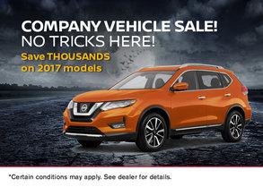 No Tricks Here! Company Vehicle Sale