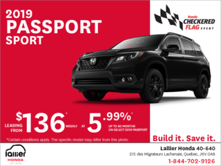 Lease the 2019 Honda Passport Sport!