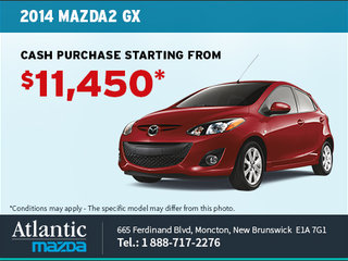 Get the 2014 Mazda 2 GX from $11,450!