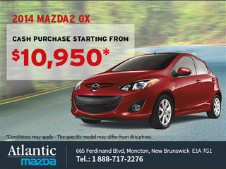 Get the 2014 Mazda 2 GX from $10,950!