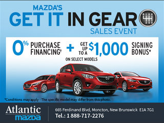 Mazda's Get It in Gear Sales Event Is Now on!