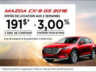 Le tout nouveau Mazda CX-9 GS 2016