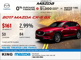 Drive Home the 2017 Mazda CX-5 GX