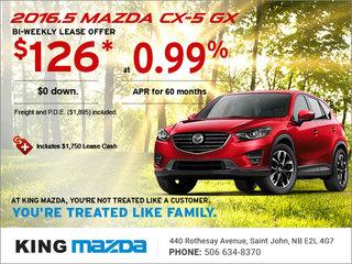 Drive Home an All-New 2016.5 Mazda CX-5 GX