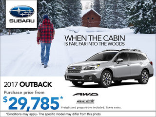 Save on the 2017 Subaru Outback Today!