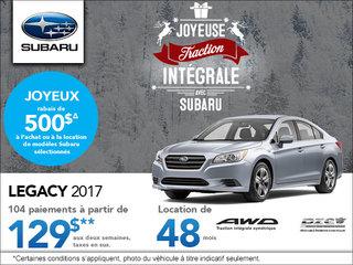 Louez le Subaru Legacy 2017 aujourd'hui