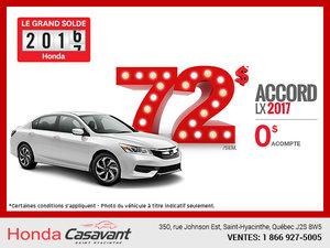 La Honda Accord LX 2017 en location
