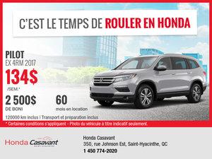 Honda Pilot 2017 en rabais