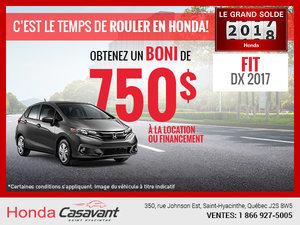 Honda Fit 2017 en rabais