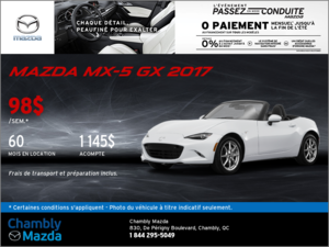 Offrez-vous la Mazda MX-5 GX 2017